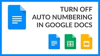 Turn Off Auto Numbering in Google Docs
