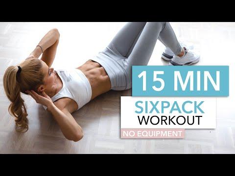 15 MIN SIXPACK WORKOUT - intense ab workout \/ No Equipment I Pamela Reif