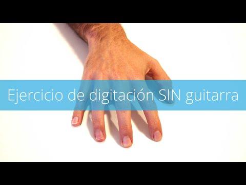 Ejercicio de Digitación sin Guitarra - Practicar sin guitarra
