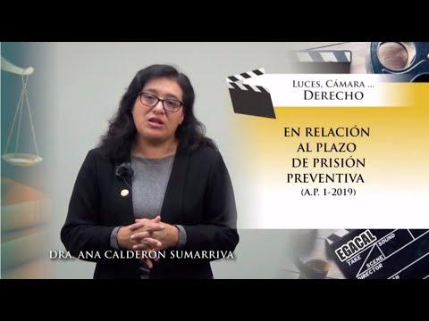 EN RELACIÓN AL PLAZO DE PRISIÓN PREVENTIVA (A.P. 1-2019) - Luces Cámara Derecho 148 - EGACAL