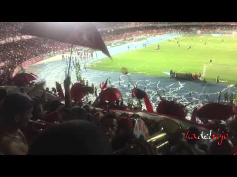 """Rojo te llevo adentro del corazón CANTO INÉDITO - Barón Rojo Sur - América 5 Bogotá 0"" Barra: Baron Rojo Sur • Club: América de Cáli"