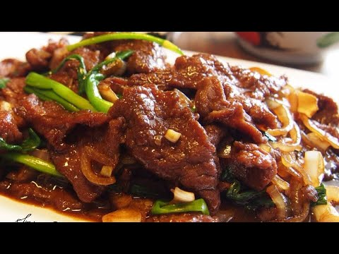 BEST EVER Stir Fry Beef w/ Ginger & Spring Onion Recipe 姜葱牛肉