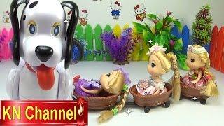 Đồ chơi trẻ em Bé Na Nhật ký Chibi búp bê tập Cưỡi chó đốm Baby Doll Stop motion Kids toys