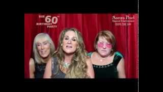 preview picture of video 'Sue's 60th Birthday Party Video Messages From The Aurora Pearl Photo Booth'