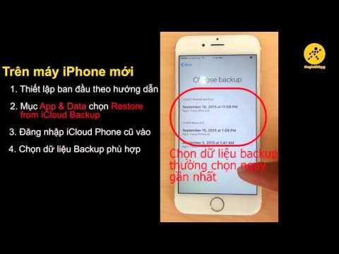 Sao lưu và phục hồi dữ liệu iCloud trên iPhone