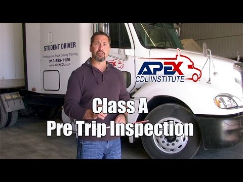 How to perform a Class A CDL Pre-Trip inspection. Demonstrated by a state licensed CDL examiner.