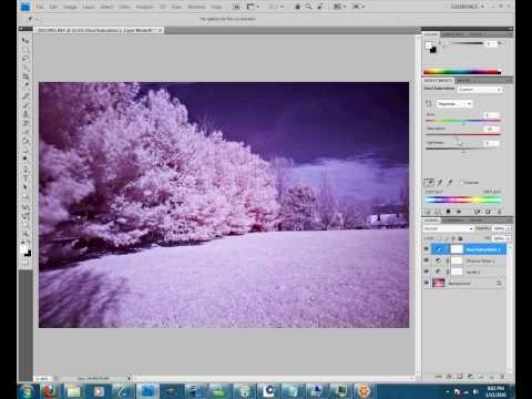 infrared photoshop tutorial | PhotoTube