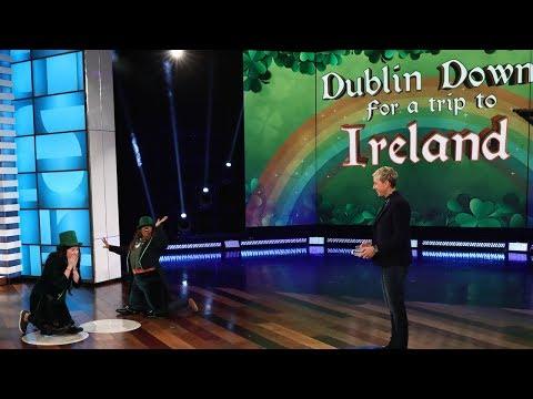 Ellen Plays 'Dublin Down for a Trip to Ireland'