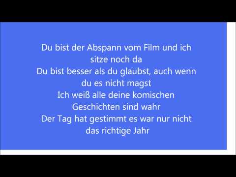 Prinz Pi - Du Bist Lyrics (HQ)
