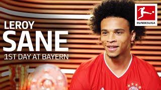 Leroy Sane's First Day at FC Bayern München