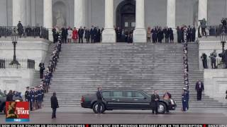 President Trump Takes his First walk Down Pennsylvania Ave as President of the United States!!!