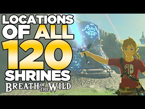 All 120 Shrines Locations in The Legend of Zelda: Breath of the Wild | Austin John Plays
