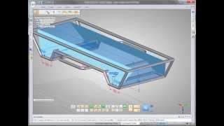 Solid Edge ST6 DEMO Проектирование каркасных конструкций из профилей