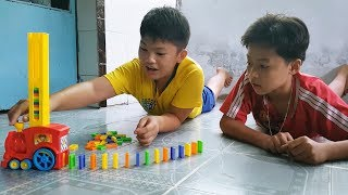 Trò Chơi Xe Tàu Hoả Xếp Domino ❤ ChiChi Kids TV ❤ Đồ Chơi Trẻ Em Baby Fun Song