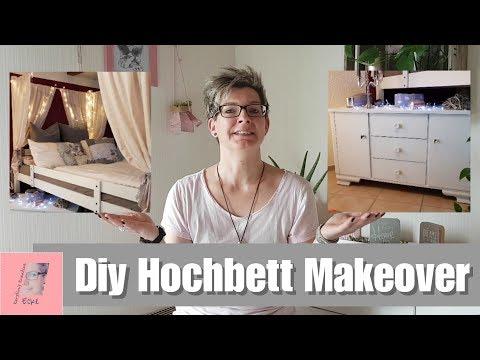 Hochbett Makeover | Diy Betthimmel | Kommode gestalten und einräumen