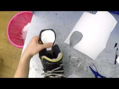 Ремонт задника на хоккейных коньках.Замена задника конька.