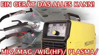 Alles in einem Schweißgerät MAG/ WIG /Elektrode/ Plasma - MWE 202p MWPE200 von Weldinger