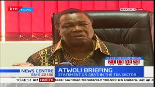 COTU secretary general Francis Atwoli issues statement to employers of tea sector