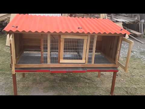 Jaula de 3 servicios para Conejo Cuy con Bandeja.