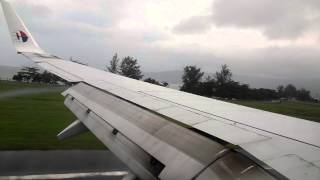 preview picture of video 'Malaysia Airlines MH1430 Boeing 737-800 9M-MLJ KUL-LGK Hard Landing After Missed Approach Runway 03'