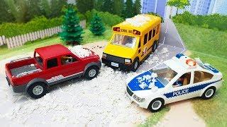 Мультики для детей с машинками - Снежная буря! Мультик про машинки и погоню для детей
