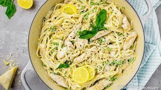 One Pot Creamy Lemon Chicken Pasta - No Spoon Necessary