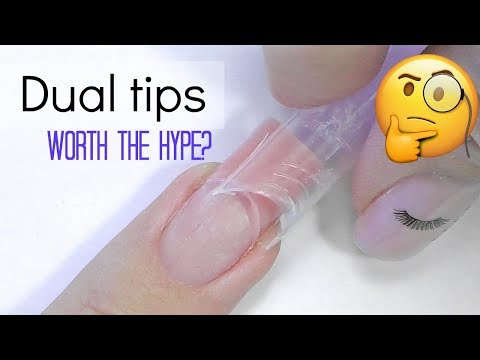 Dual Tips Nails with Polygel