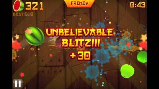OVER 1000!!! - HIGH SCORE - Fruit Ninja ARCADE Mode - NO SLOW MOTION / NO HACKS - HD 1080p