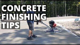 Concrete Finishing Tips For Beginners | Power Troweling Floors