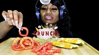 ASMR (Epic Fail) Pickles, Flaming Hot Cheetos & Onion Rings Intense Sounds