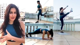 Katrina Kaif Hard Workout At Home Without Equipment in Lockdown Period