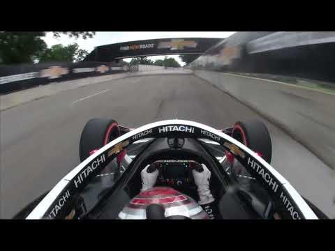 インディーカー第7戦 デトロイト 決勝レース2の予選ハイライト無料動画