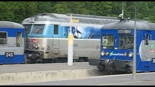 preview picture of video 'France: SNCF Class BB 67400 at Longueville - Seine-et-Marne department, lle-de-France region'