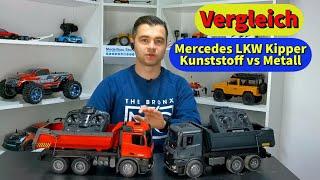 Mercedes LKW Kipper Vergleich: Kunststoff gegen Metall. Lohnt sich die Metall Version?