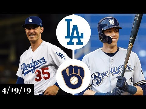 Los Angeles Dodgers vs Milwaukee Brewers Highlights | April 19, 2019
