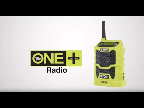 Ryobi ONE+ 18V Cordless Radio With Bluetooth Introduction video