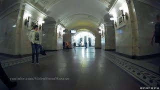 Метро Октябрьская кольцевой линии, выход в город