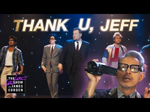 Ariana Grande LOVES James Corden & Jeff Goldblum's Spoof Of Her 'Thank U, Next' Music Video