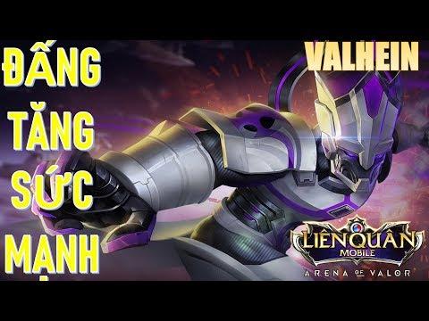 Gánh team Lật kèo cực căng VALHEIN tăng sức mạnh phiên bản mới Liên quân mobile