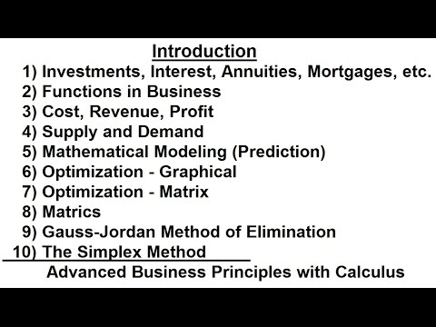 Business Math (1 of 1) Introduction