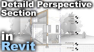 Detailed 3D Section in Revit Tutorial