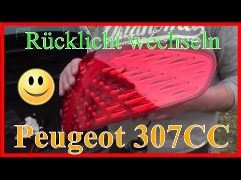 Peugeot 307CC Rückleuchte einbauen 🔧 / How to install a tail light