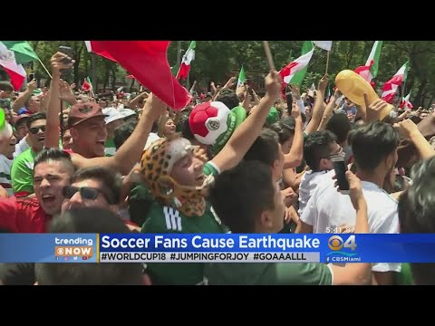 Trending: World Cup Celebrations Cause Earthquake In Mexico