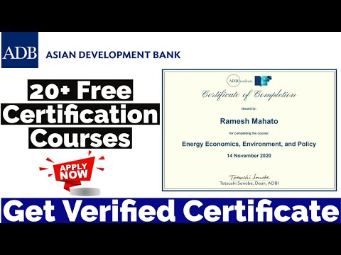 Free Certification Courses   Asian Development Bank Free Courses ...