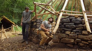 Medieval Roundhouse Bushcraft Build - Roof Frame Finish & Historical Context (Ep.9)