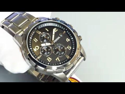 Men's Fossil Chronograph Black Dial Watch FS4542