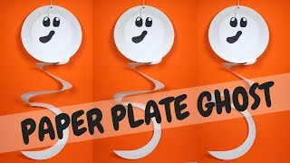 How To Make An Easy Paper Plate Ghost | Halloween Crafts For Preschoolers