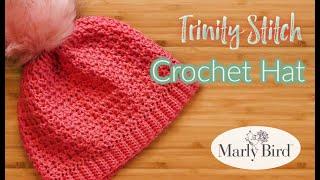 Trinity Crochet Hat    Easy Beginner Crochet Hat    Marly Bird