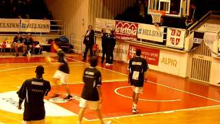 Mike Efevberha warm up - Lugano Tigers Swiss Champion