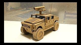 Как сделать модель Hummer H1 из картона